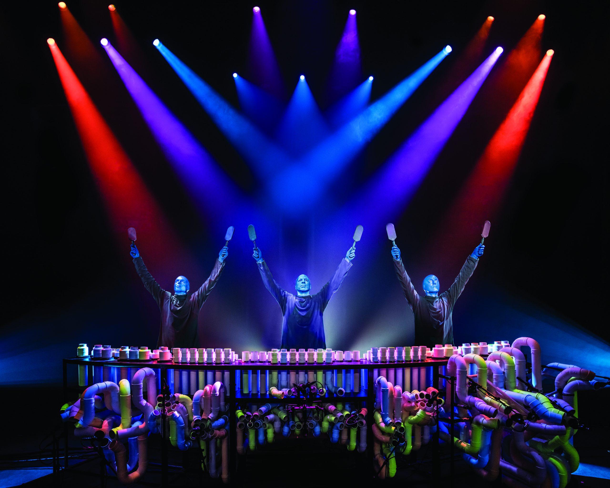 Escena de Blue Man Group en Broadway, Nueva York