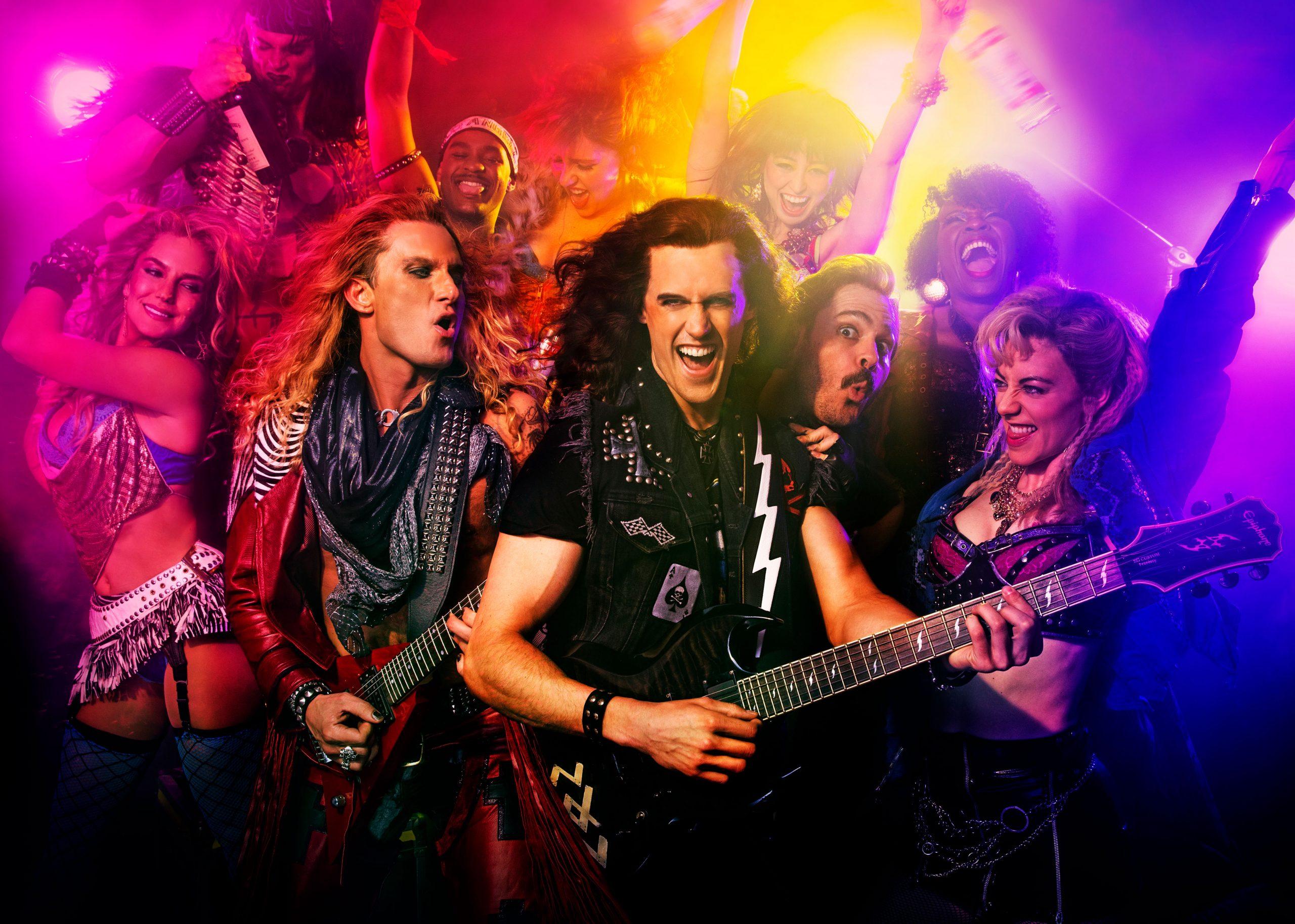 Escena de Rock of Ages en Off-Broadway, Nueva York